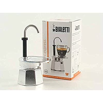 Bialetti 1281 Mini Express 1 Cup Espresso Maker Aluminium