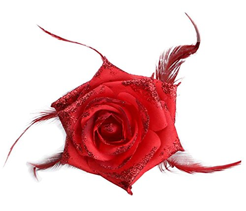 Tissu Rose Fleur artificielle cheveux ornements / mariage Corsage Fleurs 2PCS