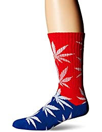 Huf Plantlife Colour Block Crew Socks Red/Blue