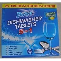Duzzit Dishwasher Tablets 5 in 1, Lemon Fragrance