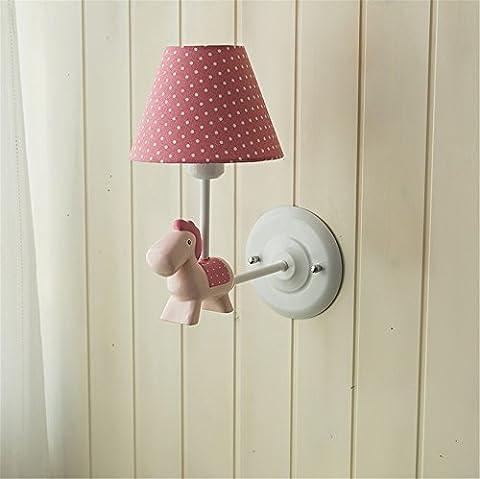 Vintage Wandleuchte Wandlampen Wandleuchte Die Nordischen frische kleine Ponys Wandleuchten einfaches kontinentales Amerikanischen Jungen und Mädchen Kinderzimmer Schlafzimmer Wandleuchten