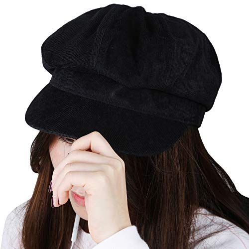 KYEYGWO Newsboy Hat for Women, Plain 8 Panel Winter Warm Cabbie Visor Beret Gatsby Ivy Caps