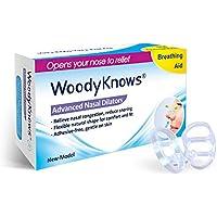 WoodyKnows (Paquete de 3) Dilatadores Nasales Antirronquidos Dilatadores Nasales Esparcidores Nasales Dispositivo Antirronquidos Alivio de la Congestión Nasal Sin Adhesivo Suave para la Piel(Medium)