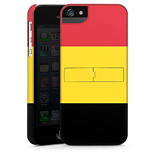 Apple iPhone X Silikon Hülle Case Schutzhülle Belgien Flagge Fußball Premium Case StandUp