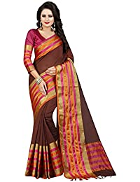 Macube Women's Latest MultiColored Designer Cotton Silk Sarees New Collection 2017 Today Low Price Saree With...