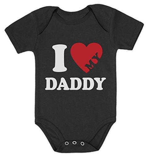 Ich Liebe Meinen Papa - I Love My Daddy Baby Body Kurzarm-Body 0 - 3 months Schwarz (T-shirt Love Baby Daddy)