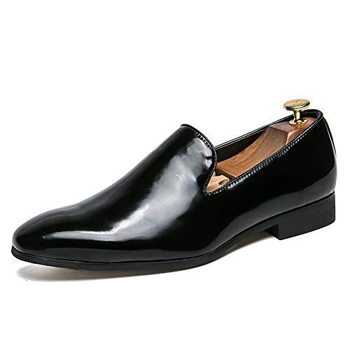 Lackleder Herren Business Oxford Casual New Style Einfache Klassische Britische Mode Patent Keine verblassenden Leder Formelle Schuhe Abendgarderobe Dress Schuhe ( Color : Schwarz , Größe : 40 EU )