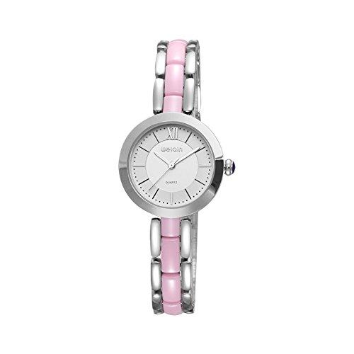 SUIYOUYU Luxusuhren Beiläufige Uhren, WEIQIN Fashion Watch Frauen Rose Gold Weiß Keramik Armbanduhr (Color : 3)
