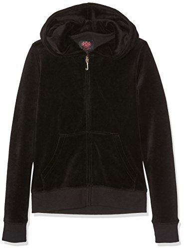 Juicy Couture Juicy Girl (Juicy Couture Mädchen Kapuzenpullover Collegiate Robertson, Black (Pitch Black), 2-3 Jahre)
