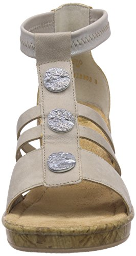 Rieker - 69718, Sandali Donna Beige (Beige (marble/silver / 60))