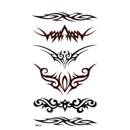 Belle mode personnalisée faux tatouages sexy totémiques étanche faux tatouages
