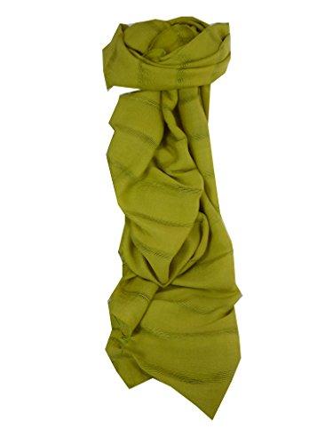 Preisvergleich Produktbild Seidentuch Lange Vietnamesisch Hue Weave Light Olive von Pashmina & Silk