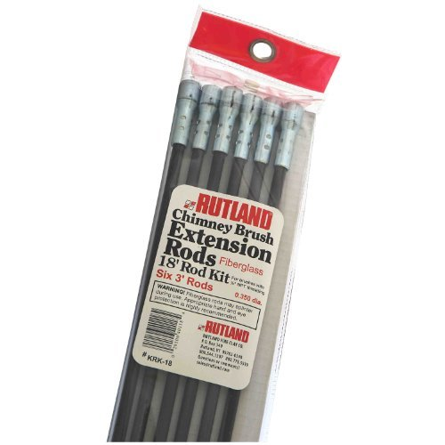 Rutland KRK-18 Fiberglass Chimney Brush Rod Kit by Rutland - Fiberglass Chimney Rod