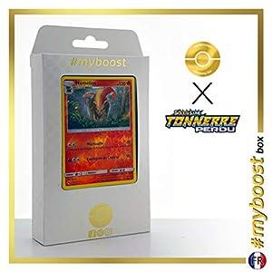 Némélios (Pyroar) 51/214 Holo Reverse - #myboost X Soleil & Lune 8 Tonnerre Perdu - Box de 10 Cartas Pokémon Francés