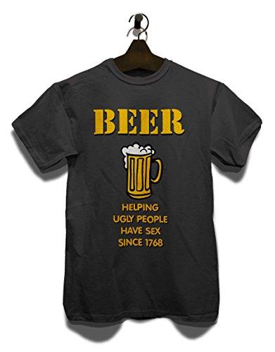 Beer Helping Ugly People T-Shirt Grau