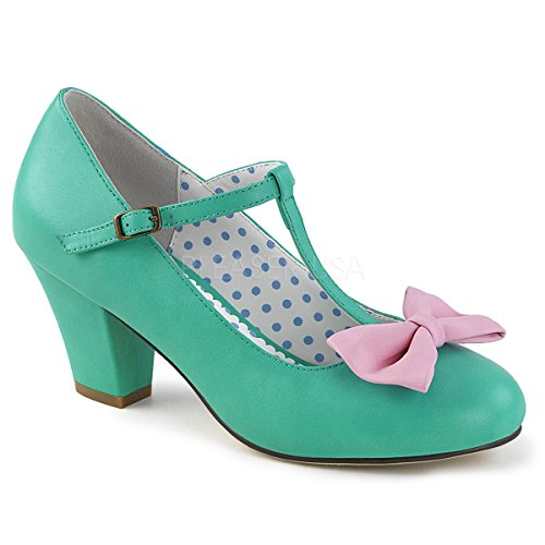 71bd6372f95818 Pin Up Couture WIGGLE-50 Teal-Pink Faux Leather UK 7 (EU 40