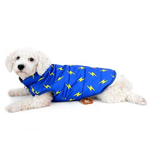 selmai Puppy Winter Fleece Weste gefüttert winddicht wasserabweisend ärmellos Down Coat Jacke Lightning Kleine Haustiere Katze Hund Chihuahua Outfits Apparel Kleidung -