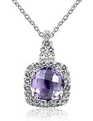 Mujeres plata esterlina 925 1,6 Carats amatista naturales colgante collares by Dormith®