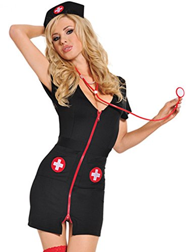 Wunhope Damen Lingerie Sexy Krankenschwester Erotik Bodydolls Reizvoll -