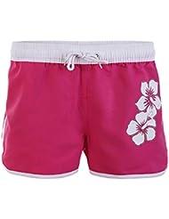 Short de bain pour femmes dans des couleurs vives avec hibiscus print Jack 1252-f6045
