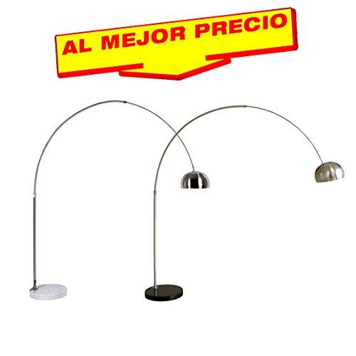 LÁMPARA DE PIE EN ARCO MODELO VANGUARD, LÁMPARA DE SUELO,BASE MÁRMOL, ESTILO MODERNO, LAMPARA DE PIE PARA SALÓN O COMEDOR-OFERTAS ILUMINACIÓN- DISPONIBLE EN VARIOS ACABADOS (Mármol Negro)