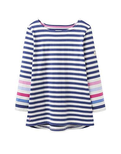 joules Hafen Frauen Trikot top s/s 19 Cream Blue Stripe 14