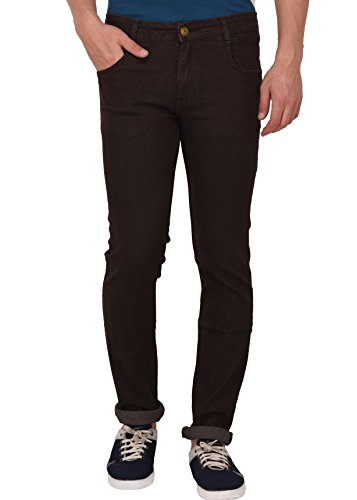 Studio Nexx Men's Regular Fit Stretch Jeans (Coffee)  available at amazon for Rs.599