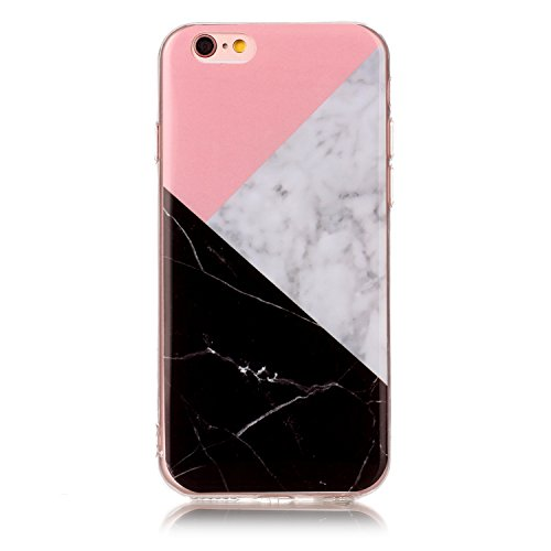 Pour Apple IPhone 6 6s Case Marbling Texture Soft TPU Cover Slim Ultra Thin Anti-Scratch Shock Absorption Protective Back Cover Shell ( Color : M ) H