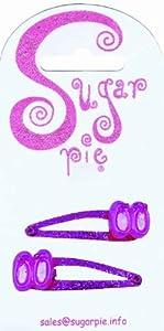Sugar Pie S01C017 - Pinzas para el Pelo con Purpurina y decoración de Zapatos de Ballet