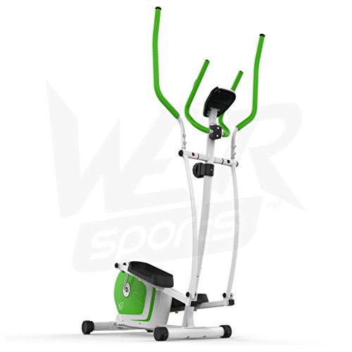 We R Sports Elliptisch ?berqueren Trainer & ?bung Fahrrad 2-in-1 Zuhause Cardio- Training (Gr?n) - 9