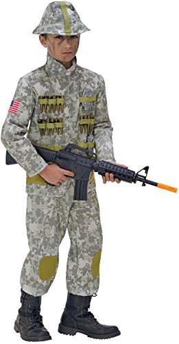 WIDMANN De los niños Soldado Costume Large 11-13 años (158cm) de Ejército Militar Guerra del Vestido