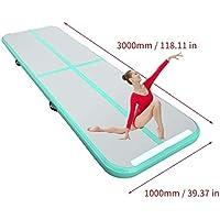 Preisvergleich für Hermosairis 300x100x10cmair Tracking Matte aufblasbare Gymnastik airtrack mit Elektrische Luftpumpe für Praxis Gymnastik, Cheerleading, Tumbling, Parkour und Kampfkünste