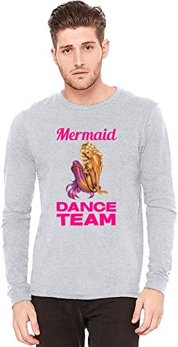 Dance Team-t-shirts (Mermaid Dance Team Slogan Langarm-T-Shirt Long-Sleeve T-shirt   100% Preshrunk Jersey Cotton Small)