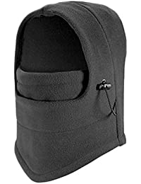 Cali Republc Unisex Thermal Fleece Multifunction Balaclava Snood Full Face Mask (Grey)
