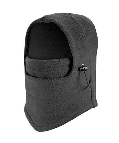 Elonglin Unisex Adult Unisex Kinder Sturmhauben Damen Herren Mask Hood Dicke Warm Atmungsaktiv Mützen Winddicht Multifunktions Hut Grau für Erwachsene One ()