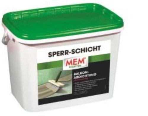 MEM Sperr - Schicht, Abdichtung von Balkonen, Terrassen + Nassräumen, 10,5 kg