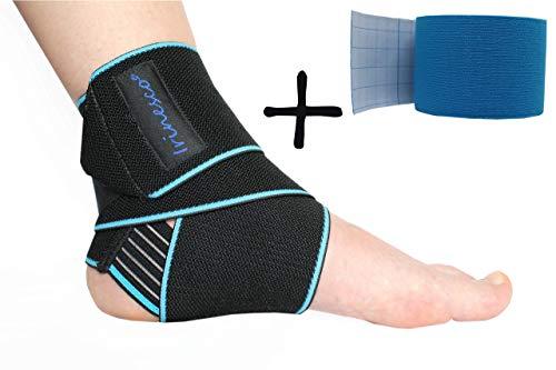 Cavigliera Sportiva Per Distorsione Elastica Donna Uomo Ortopedica Calcio Palestra Tutore Fascia Caviglia Velcro Tessuto Compressione Graduata Regolabile Riabilitazione Supporto Piede Destro Sinistro