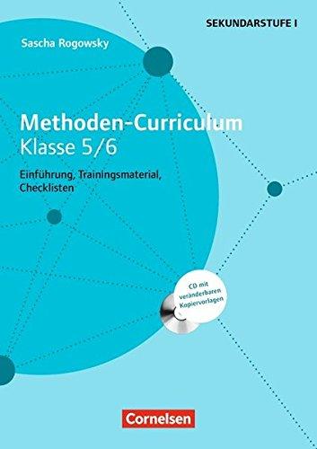 Methoden-Curriculum für die Schule: Methoden Curriculum - Klasse 5/6: Kopiervorlagen mit CD-ROM