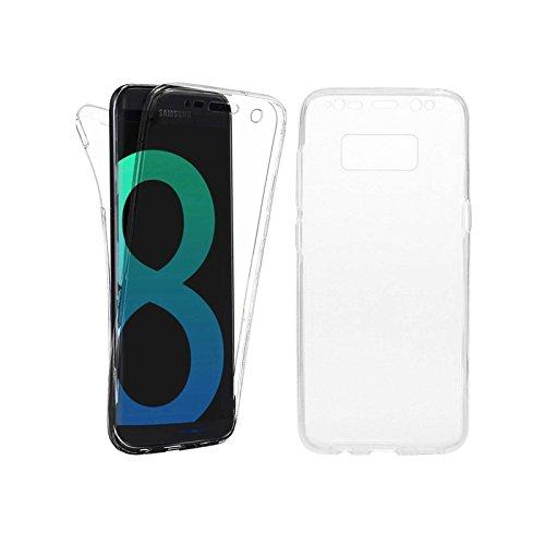 LINCIVIUS Cover per Samsung Galaxy S8Plus Integrale-Custodia per Galaxy S8Plus Ultra Slim Trasparente, Protezione 2in 1Resistente, Morbida sul Davanti e sul Retro, in Gel Acrilico e Silicone