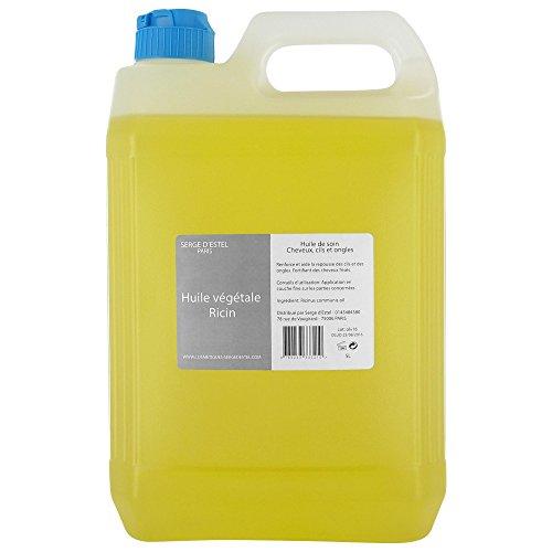L huile de ricin 5 litres - 100% pure et naturelle- repousse des cheveux - renforce les ongles et les cils