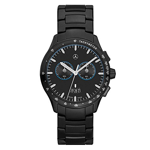 Mercedes Benz Original Herren Armbanduhr Chronograph 'Black Edition'
