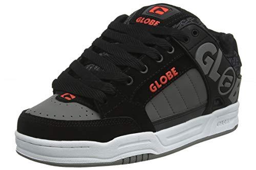Globe Herren Tilt Skateboardschuhe, Grau (Black/Red/Grey Knit 20395), 44.5 EU (11 US) Red Nubuck Schuhe