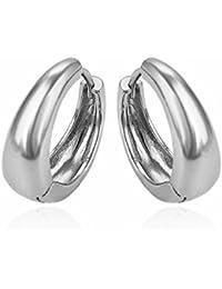 Gadgetsden Big Kaju Bali s Smooth Silver White Gold Huggie Hoop Earring For  Men -20Mm 9a1b44dc2e91