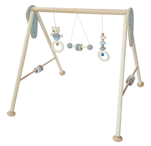 Hess 13381 Baby Juego dispositivo de madera, nature, color azul