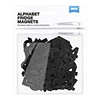 Shot2go Pack Of 90 Magnetic Alphabet Letters In Black. Includes Letters, Numbers and Symbols.  Letter Height 25mm