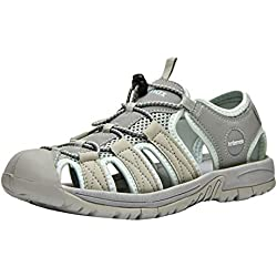 Knixmax-Sandalias de Senderismo Verano para Hombre Mujer Verano Exterior Senderismo Ligeras Antideslizantes Zapatillas Trekking Deportivas Casuales Zapatos de Montaña Sandalias de EU38 (UK5) Grey