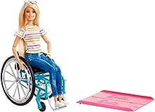 Barbie Fashionistas, Bambola in Sedia a Rotelle, Giocattolo per Bambini 3+ Anni, GGL22, Multicolore