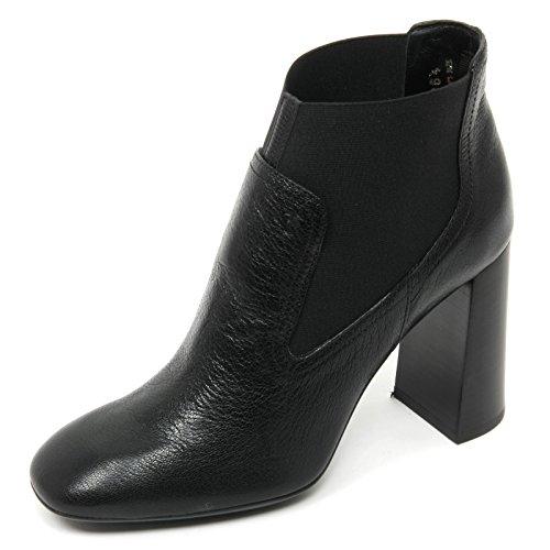 B9030 tronchetto donna TOD'S gomma T95 scarpa nero shoe boot woman Nero