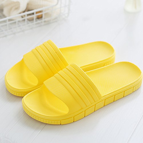 DogHaccd pantofole,Il bagno pantofole donne indoor usura estate soggiorno home anti-slittamento bagno spesso uomini di plastica le coppie home pantofole Giallo4