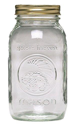 ball-golden-harvest-regular-mouth-vintage-fruit-design-mason-jars-1-quart-clear-by-ball